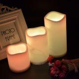 """[بتوب] 3.5 """" عاج شمع شمعة زخرفيّة عديم لهب"""