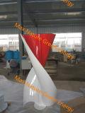 turbina de vento vertical pequena espiral da linha central 1000W