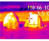 Temperatura térmica infravermelha que inspeciona o detetor de incêndio
