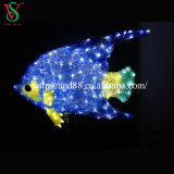 Outdoor Decoration를 위한 3D Sculpture Lights Fish