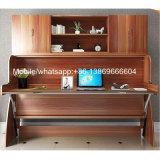 Venta caliente moderna cama plegable de madera con escritorio y el Gabinete