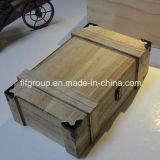 Imballaggio di legno non finito stampato ecologico del vino
