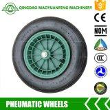 """rotella resistente della carriola di 16 """" Qingdao con gli orli della plastica del metallo"""