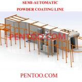 Linha de produção automática do revestimento do pó da alta qualidade para a roda de carro