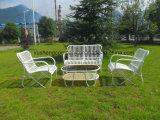 놓이는 현대 옥외 가구 스테인리스 등나무 테이블 및 의자