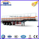 3 de l'essieu 52cbm de pétrole brut/essence/essence/essence de camion-citerne aspirateur remorque de service en aluminium semi
