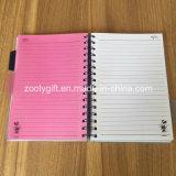 Divisores coloreados cuaderno doble de los PP del proyecto de la cubierta A5 de los PP del espiral