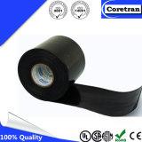 Auto nero dell'adesivo di gomma che amalgama il nastro elettrico dell'isolamento