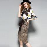 Neue Art-Blumenoberseite und Fußleisten-Form-Frauen-Kleid