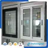 Desplazamiento de la ventana de aluminio con el vidrio esmaltado doble