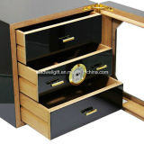 100-150 i conteggi anneriscono i cassetti del Humidor allineati cedro 3 del Governo del sigaro di rivestimento del piano di lucentezza