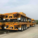 reboque opcional Flatbed do recipiente de 40FT para 60tons