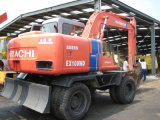 使用された掘削機日立Ex100wdの使用された車輪の掘削機日立Ex100