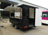 Carrello mobile di vendita del hot dog che spinge il rimorchio del carrello dell'alimento