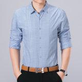 Il tasto sottile del cotone di misura di affari lunghi all'ingrosso del manicotto giù barra la maglietta degli uomini