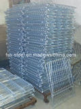 Armazém Galvanized Welded Wire Mesh Storage Cage com Pesado-dever