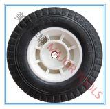 Roda de espuma de poliuretano PU com quatro raios 6X2 para carros de mão