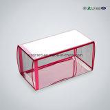 Rectángulo de regalo claro transparente plegable del empaquetado plástico del animal doméstico