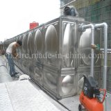 Recipiente inoxidável do tanque de água da soldadura de aço/tratamento da água secional do tanque de água