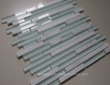 China White Crystal Glass Tile Strip Backsplash Glass Mosaic Tile