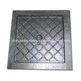 Fonte grise de trou d'homme de fer malléable carré de couverture