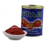星のブランドの22-24%缶詰にされた400gトマトのり