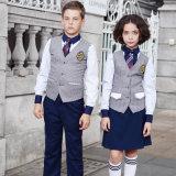 Gilet unisexe d'uniforme scolaire de qualité faite sur commande