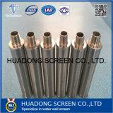 Filtro del tubo de la pantalla de la redondez de la ranura del acero inoxidable 316L 0.020
