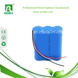 paquete de la batería del Li-ion 11.1V 18650 para la luz de la bicicleta/la luz principal/la luz de destello