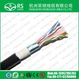 AWG negro de CAT6 F/UTP 23 4 pares del cable al aire libre blindado