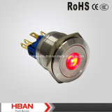 22mm Acero CE RoHS DOT-Iluminado pulsador inoxidable