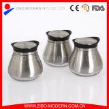 Vaso di biscotto di vetro rotondo della caramella dell'acciaio inossidabile dei commerci all'ingrosso