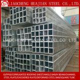 Q235B heißes eingetauchtes galvanisiertes quadratisches Gefäß für Aufbau