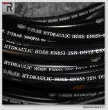 Rubber hidráulico Hose com Wire Spiral para Extreme High Pressure