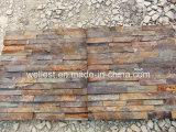 Piedra apilada repisa oxidada de la cultura de la pizarra de SL-015n Brown