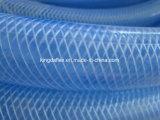 Шланг воды PVC дюйма 1/2 заплетенный волокном усиленный