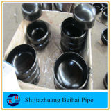 16黒い絵画が付いているインチA234 Wpb Bwの炭素鋼の帽子