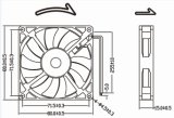 Малошумный охлаждающий вентилятор вентилятора 8015 80mm 80X80X15mm DC 12V для звуковых оборудований