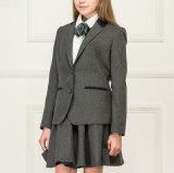 Серый цвет типа Англии девушок младшей школы красит куртку и юбку пальто высокой ранга