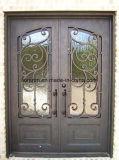 Premières portes en partie double neuves carrées de fer travaillé de modèle