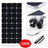panneau solaire semi flexible de 100W Sunpower de Modulemanufacturer solaire avec la garantie à long terme