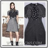 Lady Fashion Summer Cotton Short Sleeve Dress