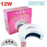 Produtos UV da patente do tipo da lâmpada do prego do diodo emissor de luz da luz de lua (LK-D12W) melhores