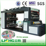 Máquina de impressão de alta velocidade de Flexo da película do PE da pilha de 4 cores