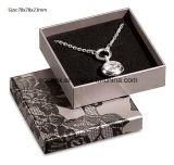 Caja de embalaje del regalo de papel simple gris de la joyería de Jy-Jb152 Matt para el pendiente