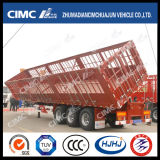 Nuovo Type Cimc Huajun 3axle Cargo/Stake Side Tipping Semi Trailer