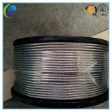 Câble métallique en acier à haut carbone d'Ungalvanized