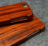 Caso de madeira real feito sob encomenda luxuoso gama alta da tampa do telefone móvel para a caixa em branco de bambu do telefone de pilha do iPhone 6/6s