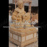 정원 훈장 Ms 914를 위한 손 새겨진 고대 석회화 조각품