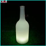 La DEL lumineuse annoncent la bouteille à bière en plastique de PE avec le logo de propriétaire